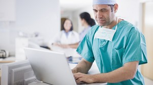doctor using computer image